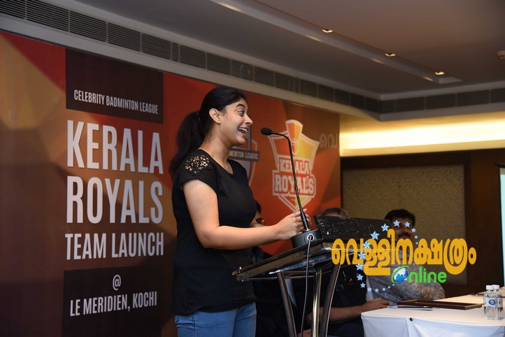 Celebrity Badminton League Kerala Royals Team Launch