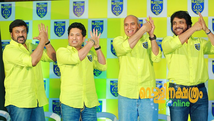 Chiranjeevi and Nagarjuna join Sachin Tendulkar in Kerala Blasters